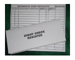 Check/Debit Card Register - Large Size for Sight Support
