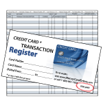 Credit Card Register - Slim Pack
